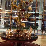 beautiful flora arrangment at lobby