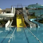 water slides at hotel