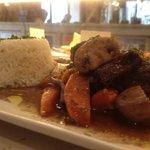confit de joue de bœuf, riz basmati
