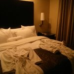 My FAVORITE!-the PLUSH BED!!!..plus robes, of course!
