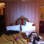 huge bed ( 2 singles put together)