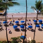 A reminder - the blue umbrellas are not part of the Outrigger