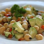 chickpea avocado salad comes with the tilapia