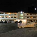 Motel 6 at night