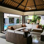 Open air lounge room, classy furniture