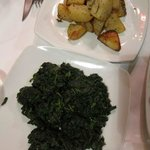 Spinach and roasted potatoes