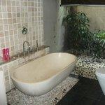 semi outdoor private bathroom