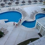 pool area, view from room's balcony