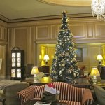 Lobby with Christmas tree