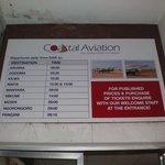 Vluchtschema DAR-Kilwa