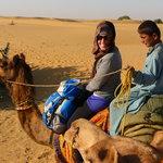 Enjoying my camel safari!