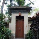 L'entrée de notre villa