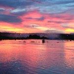 Sunset from Royal Livingstone Hotel verandah