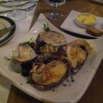 Baked oysters with crab and cream cheese