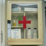medicine box the pool side