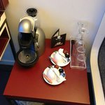 Coffee machine in the upgraded room, Nice touch