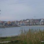 Vista de Portonovo desde playa Baltar