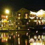 Thu Bon river view on Fullmoon night