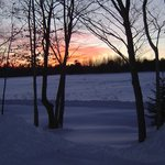 Sunset in winter...from front porch