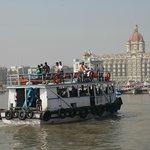 The Elephanta Island boat returning to Mumbai harbor