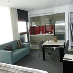 Living/dining and kitchen areas