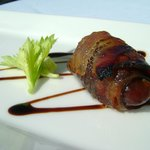 Apple wood Bacon wrapped Date