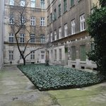 The courtyard in December
