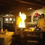 Table side Trout Flambe!
