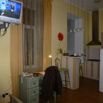 Our room showing kitchenette area