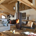 Stunning double height living room