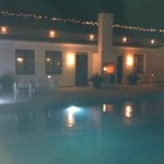 Night wiew of the room and pool