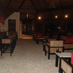 The bar with its sand floor.