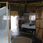 Inside waterview cabin #1 - Queen bed & twin bed