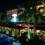Main restaurant terrace at night