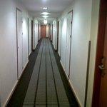 Hallway in front of room