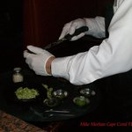 Guacamole Hecho Mesilla being prepared table-side.