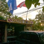 Native Sons dive shop at the front door