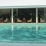 View of the pool and pool bar