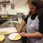 making crepes