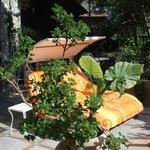 Lounge on terrace in Honeymoon Suite