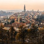 View of Bern Old Town from Rosengarten