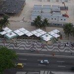 Bar de praia em Copacabana em frente ao hotel