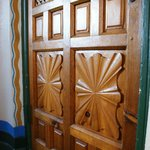 Entry door woodwork detail
