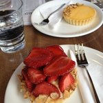 Best strawberry tart on the planet and hubby loves the espresso too