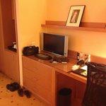 LCD TV on work desk