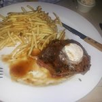The excellent steak!