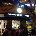 The front door of Starbucks Coffee Mohegan Sun