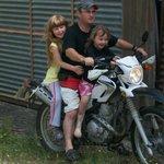 Motor bike riding!