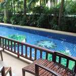 Our pool - room access