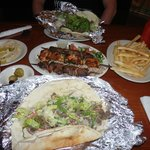 Kebab Combo, Gyros and Shawerma with Fries